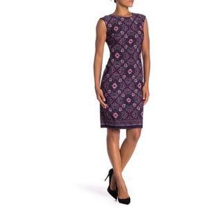 Vince Camuto Cap Sleeve Bodycon Print Dress Floral